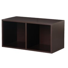 Modular Storage Large Divided Cube in Espresso