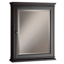 "Berkshire 23.63"" x 30.13"" Surface Mounted Beveled Edge Medicine Cabinet"