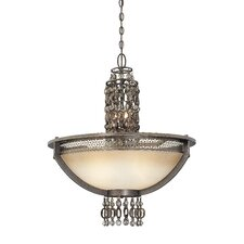 Ajourer 6 Light Bowl Inverted Pendant