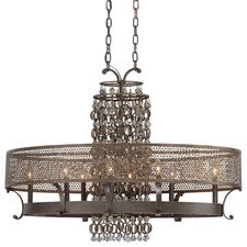 Ajourer 8 Light Oval Chandelier