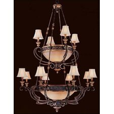 <strong>Metropolitan by Minka</strong> Zaragoza Twelve Light Chandelier in Golden Bronze with Optional Shades
