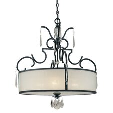 <strong>Metropolitan by Minka</strong> Castellina 4 Light Drum Pendant