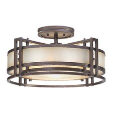 Walt Disney Signature Underscore 3 Light Semi-Flush Mount