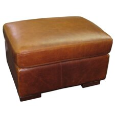Brussels Classic Leather Ottoman