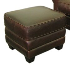 Paris Classic Leather Ottoman