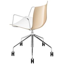 Catifa 53 Polypropylene Two-Tone 5-Way Task Armchair with Gas Lift on Castors
