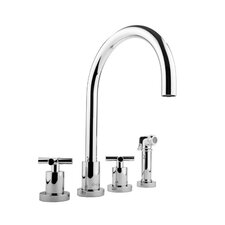 Infinity Two Handle Widespread Kitchen Faucet with Side Spray