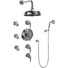 Lauren Thermostatic Set with Body Sprays and Handshower Trim