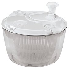 Manual Salad Spin Dryer in White