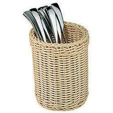 Polyrattan Flatware/Breadstick Basket