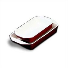 <strong>Paderno World Cuisine</strong> 11' X 6.875' Enamel Cast Iron Rectangular Dish