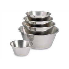 Stainless Steel Mixing Bowl with Flat Bottom