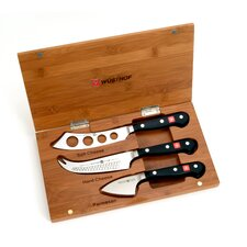 Classic 4 Piece Bamboo Cheese Knife Set