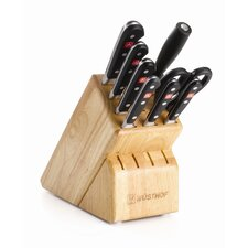 Classic 9 Piece Santoku Knife Block Set