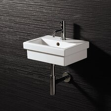 <strong>Bissonnet</strong> Area Boutique Logic 40 Ceramic Bathroom Sink