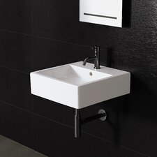 <strong>Bissonnet</strong> Area Boutique Ice Medium Square Ceramic Bathroom Sink