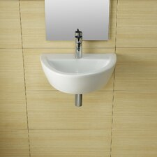 <strong>Bissonnet</strong> Universal Arq Porcelain Bathroom Sink without Overflow