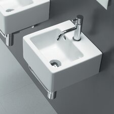 Area Boutique Ice Small Square Ceramic Bathroom Sink