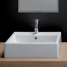 <strong>Bissonnet</strong> Area Boutique Ice Large Square Ceramic Bathroom Sink