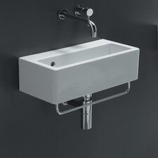 <strong>Bissonnet</strong> Area Boutique Ice Rectangle Ceramic Bathroom Sink