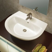 Universal Jazz 57 Porcelain Bathroom Sink Set with Overflow