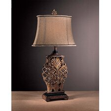 "Romance Jessica McClintock 33"" Table Lamp with Drum Shade"