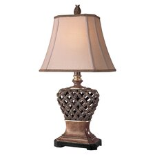 """Casual 32"""" H Table Lamp with Bell Shade"""