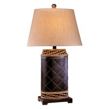 Table Lamp with Rattan