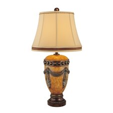 """33.75"""" H 1 Light Traditional Table Lamp"""