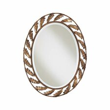 <strong>Minka Ambience</strong> Oval Iron Leaf Mirror