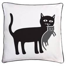 Animal Instinct Cat and Kitten Reversible Throw Pillow