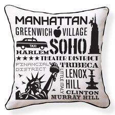 NYC Neighborhoods Pillow