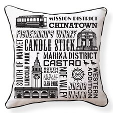 San Francisco Neighborhoods Throw Pillow