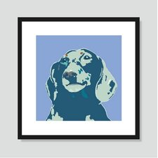 Blue Dachshund Graphic Art