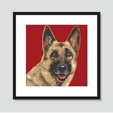 German Shepherd Graphic Art