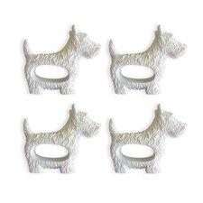 West Highland Terrier Napkin Ring (Set of 4)