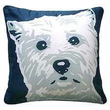 Doggie Style Reversible West Highland Terrier Throw Pillow