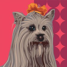 Pooch Décor Fabulous Yorkie Portrait Graphic Art on Canvas