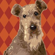 Pooch Décor Fox Terrier Wire Portrait Graphic Art on Canvas