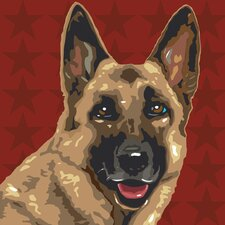 <strong>Naked Decor</strong> Pooch Décor German Shepherd Portrait