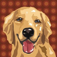 Pooch Décor Golden Retriever Portrait Graphic Art on Canvas