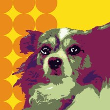 Pooch Décor Papillion Portrait Graphic Art on Canvas