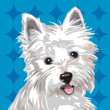 Pooch Décor West Highland Terrier Portrait Graphic Art on Canvas