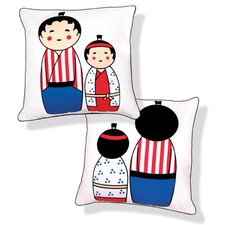 <strong>Naked Decor</strong> Japanese Dolls Reversible Pillow