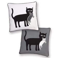 <strong>Naked Decor</strong> Animal Instinct Cat and Kitten Reversible Pillow