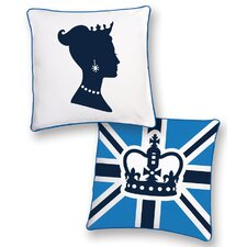 <strong>Naked Decor</strong> British Invasion Princess Reversible Pillow