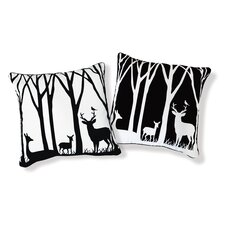Day and Night in the Forest Pillow