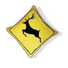 <strong>Naked Decor</strong> Reindeer Crossing Pillow