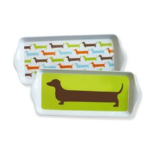 Happy Hot Dog Dessert Trays (Set of 4)