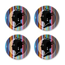 "British Invasion 8"" Queen Dessert Plates (Set of 4)"